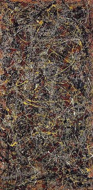 Abstract expressionism - Jackson Pollock, No. 5, 1948, oil on fiberboard, 244 × 122 cm (96 × 48 in), private collection