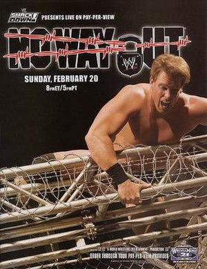 "No Way Out (2005) - Promotional poster featuring John ""Bradshaw"" Layfield"