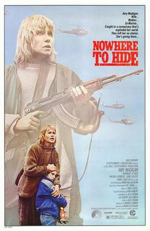 Nowhere to Hide (1987 film) - Theatrical movie poster