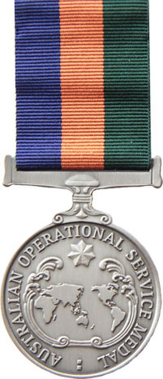 Australian Operational Service Medal - Image: Operational Service Medal Border Protection