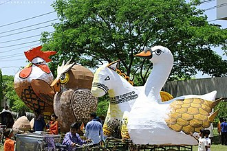 Shahjalal University of Science and Technology - Mascots made by the Architecture students, for the Pohela Boishakh procession