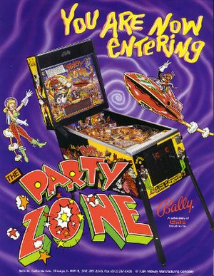 The Party Zone - Image: Party Zone pinball