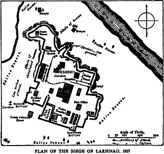 Capture of Lucknow - Image: Plan of the Siege of Lucknow Our fighting services Evelyn Wood pg 501