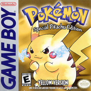 Pokémon Yellow - North American box art for Pokémon Yellow Version: Special Pikachu Edition, depicting the Pokémon Pikachu.