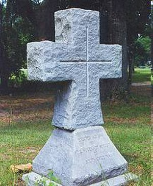 Hardeeville, South Carolina - This marker indicates the former location of the Purrysburg settlement