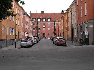 Vasastan, Stockholm - The Falugatan street in Röda Bergen.
