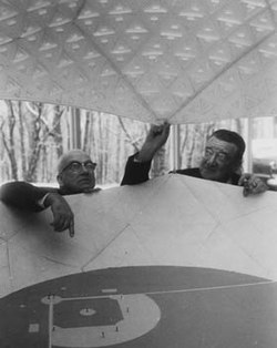 R. Buckminster Fuller and Walter O'Malley (1955).jpg