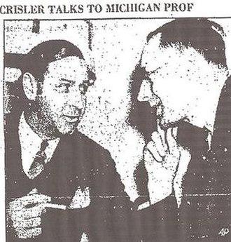 Ralph W. Aigler - Ralph Aigler Interviews Fritz Crisler, Feb. 1938