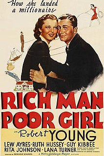 <i>Rich Man, Poor Girl</i> 1938 film by Reinhold Schünzel