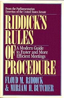 <i>Riddicks Rules of Procedure</i>