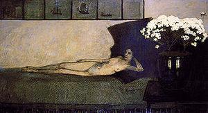 Romaine Brooks - White Azaleas (1910)