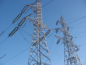Electric power industry - Transmission lines in Romania of which the nearest is a Phase Transposition Tower
