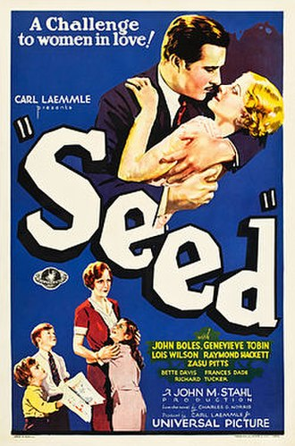 Seed (1931 film) - Theatrical release poster