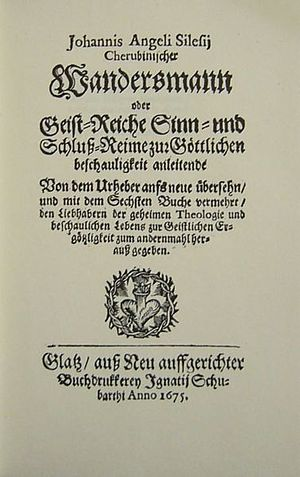 Angelus Silesius - The title page of the 1674 edition Der Cherubinische Wandersmann