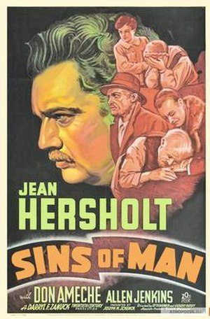 Sins of Man - Theatrical release poster