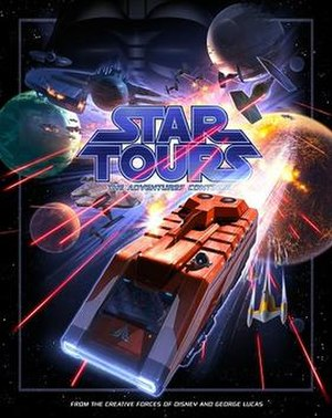 Star Tours – The Adventures Continue - Image: Star Tours—The Adventures Continue poster