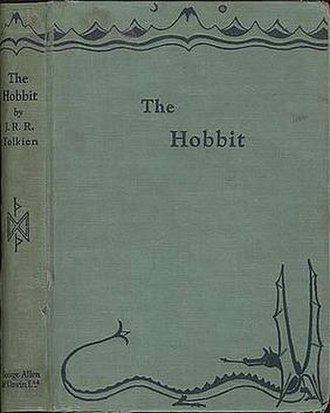 The Hobbit - Cover of the 1937 first edition, from a drawing by Tolkien