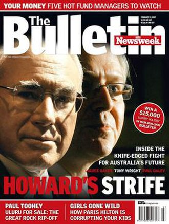 The Bulletin (Australian periodical) - Front cover of the 13 February 2007 edition