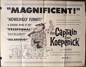 The Captain from Köpenick (1956 film) - Theatrical release poster by Tom Jung