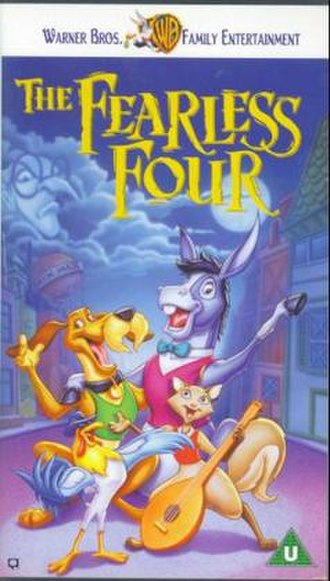 """The Fearless Four (film) - """"The Fearless Four"""" UK VHS cover"""