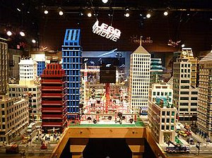 The Lego Movie - The film's live-action set as publicly exhibited at Legoland California during 2014.