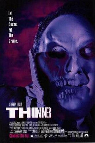 Thinner (film) - Promotional film poster