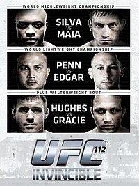 A poster or logo for UFC 112: Invincible.