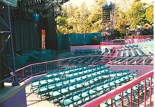 outdoor theater at Disneyland