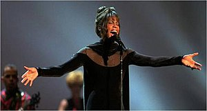 "I Have Nothing - Houston performing a medley of songs including ""I Have Nothing"" on the 21st American Music Awards on February 7, 1994."