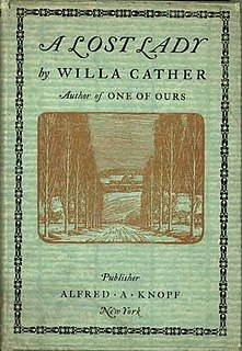 <i>A Lost Lady</i> novel by Willa Cather