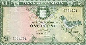 Zambian pound - Image: Zambia Pound (1964)