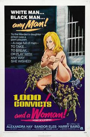 1000 Convicts and a Woman - Theatrical release poster