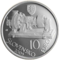 2009 Slovakia 10 Euro Aurel Stodola - the 150th anniversary of the birth front.png