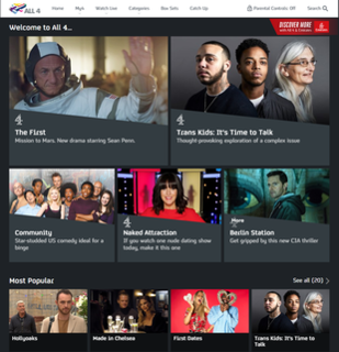All 4 video on demand service from Channel Four Television Corporation