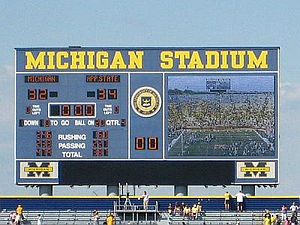 2007 Appalachian State vs. Michigan football game - Image: App Michigan Scoreboard
