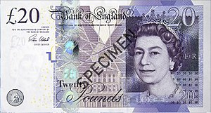 Bank of England £20 note - Image: Bank of England £20 obverse