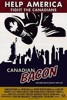 <i>Canadian Bacon</i> 1995 American-Canadian comedy film by Michael Moore
