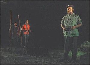 Che'r Cycle - A scene from the drama depicting Mamunur Rashid as Che Guevara