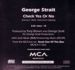 Check Yes or No - Image: Check Yes or No cd single