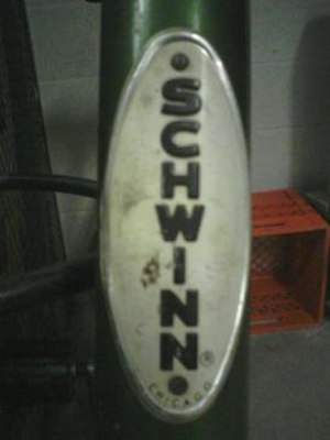 The Classic Schwinn Headbadge