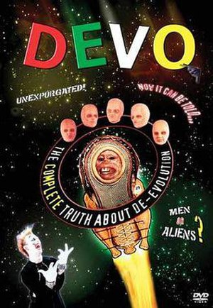 The Complete Truth About De-Evolution - Cover of 2003 Rhino Records DVD Release