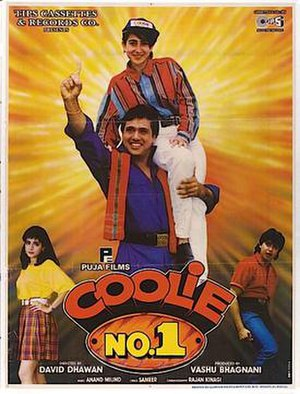 Coolie No. 1 (1995 film) - Image: Coolie Hindi Govinda film