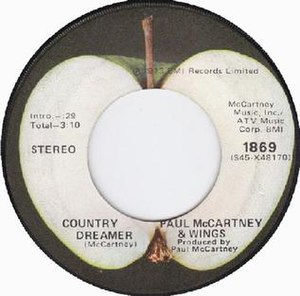 Country Dreamer - Image: Country Dreamer label
