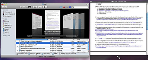 Mac OS X Leopard - The Finder, showing files in Cover Flow View and viewing a file using Quick Look