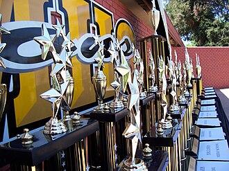 Del Mar High School - Awards lined up at the 2007 Feste Del Mar.