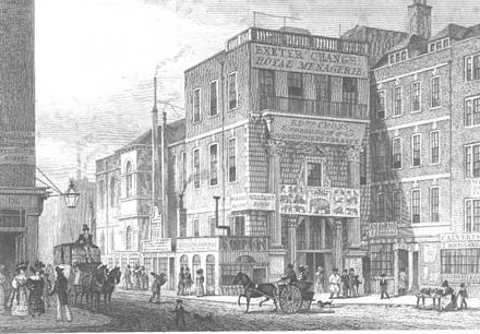 Exeter Exchange, viewed from the Strand in the early 19th century Exeter Exchange.jpg