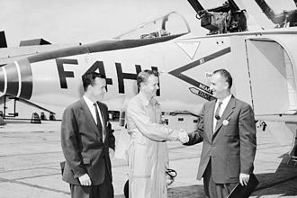 McDonnell Douglas F-4 Phantom II - Key figures in the F-4 development: David Lewis, Robert Little, and Herman Barkey