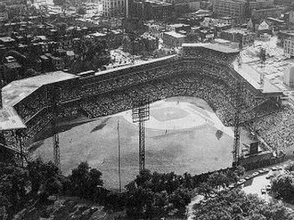 Charles Wellford Leavitt - Forbes Field, Pittsburgh, Pennsylvania. One of two stadiums designed by Charles Wellford Leavitt, civil engineer, city planner and landscape architect.