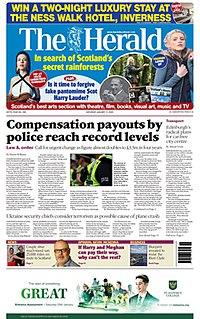 <i>The Herald</i> (Glasgow) Scottish broadsheet newspaper