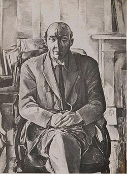 George Barker, by Patrick Swift, c. 1960